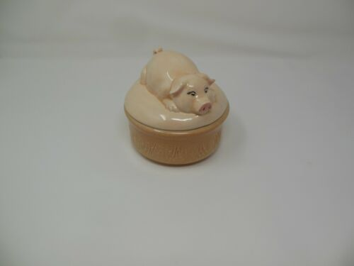 Pig Bowl Lid Bacon Grease Jar Sugar Bowl Makers Mark 1975 Unique