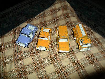 Vintage 1969-1970 TOOTSIE TOY TRUCK / JEEP / BRONCO LOT OF 4 Trucks