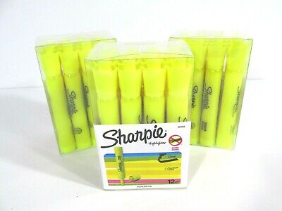 Sharpie School Office Yellow Highlighter Tank Style Chisel Tip -36 Highlighters