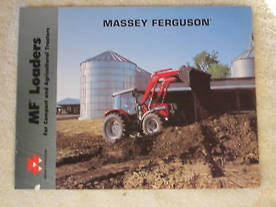 2001 Massey Ferguson Tractor Front End Loaders 12 Page Brochure