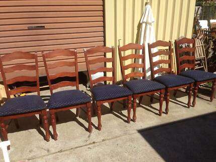 6 Old Timber Dining Chairs Beckenham Gosnells Area Preview