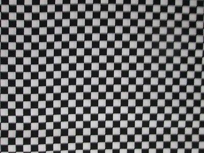 Checkerboard Race Flag Racing Nascar Grand Prix Black White Cotton Fabric FQ