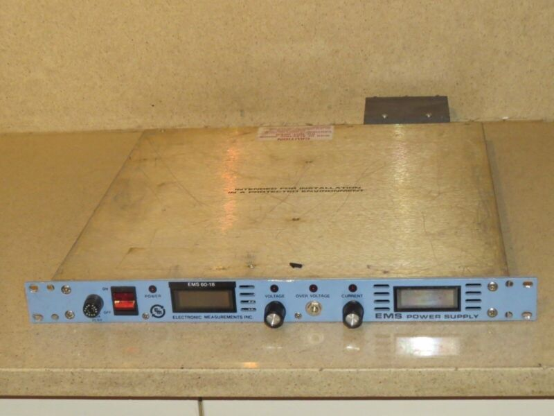 ELECTRONIC MEASUREMENTS EMS 60-18-1-D EMS 60-18 ECR POWER SUPPLY