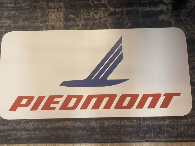 Piedmont Airlines Terminal Airport Gate Sign Vintage And RARE!