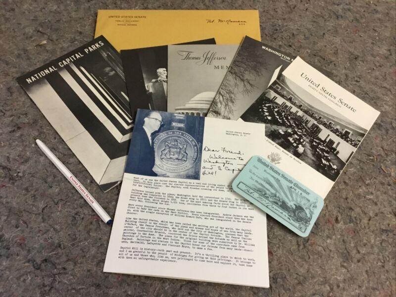 Senate Chamber Pass-Given By Pat. McNamara-With Ephemera