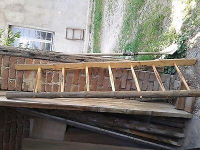 antica vecchia scala legno pioli fienile cascina 2 m