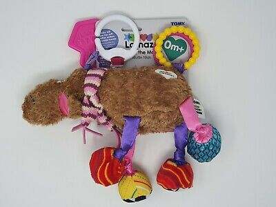 Lamaze Tomy Mortimer The Moose Clip On Toy Cuddly Baby Activity Squeeze Sounds
