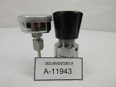 Tescom 44-2360-a4-016 Manual Pressure Regulator Mykrolis 25 Psi Gauge Used