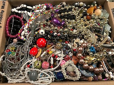 Huge Junk Vintage Jewelry Crafting Loose Beads Crafting Lot, 13.32 lbs
