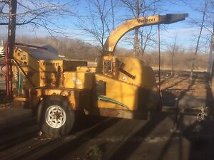 Vermeer BC1400 wood chipper.