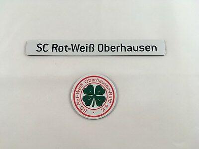 Magnetlogo & Schriftzug SC Rot-Weiß Oberhausen für Magnettabelle Magnet Logo RWO ()