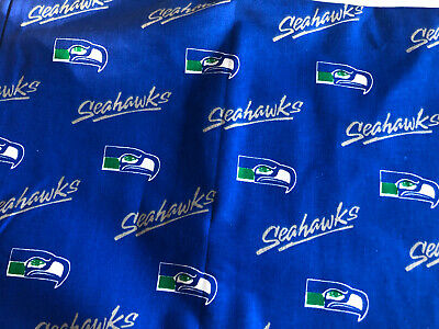 """NFL SEATTLE SEAHAWKS 9""""x 58"""" cotton fabric, crafts, masks, quilts New! Nfl Seattle Seahawks Cotton"""