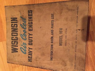 Wisconsin Engine Rebuild Instructions Parts Manual Model Vf4