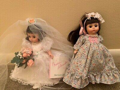 "Vintage Madame Alexander 8"" Dolls: Bride and Lucy Locket"
