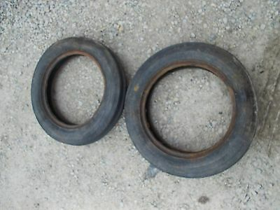 Farmall Ih B C Sc A Bn Tractor Front Tires Set Of 2 Original 4.00x 15