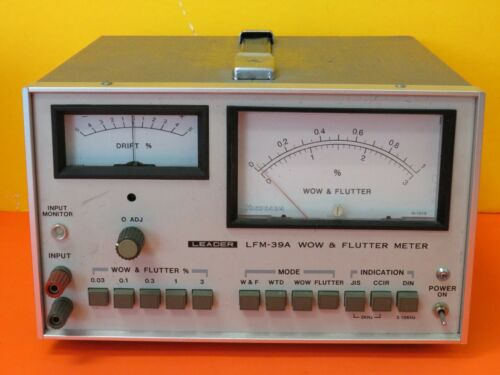 LEADER LFM-39A WOW AND FLUTTER METER