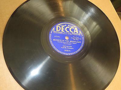 78RPM Decca 3153 Jan Savitt, v Bon Bon, Secrets Moonlight / Where Was I clean V+