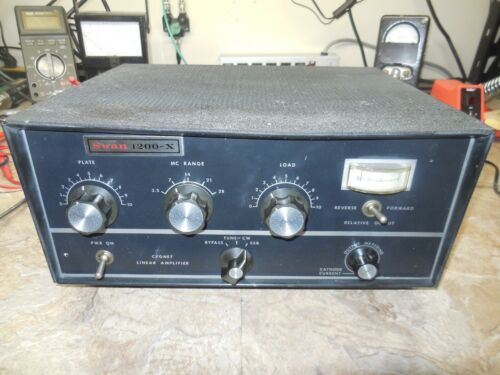 Swan 1200X Amplifier Ham CB *Works* As-Is due to no control over how Amp is Used