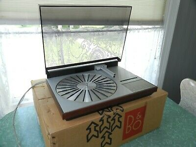 VTG BANG & OLUFSEN BEOGRAM 4004 TURNTABLE DENMARK TEAK IN BOX RECORD PLAYER