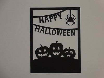 Halloween pumpkin overlay for A2 greeting card die cut