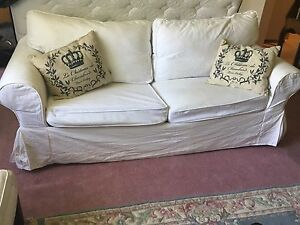 Queen IKEA Sofa Bed w 3 covers