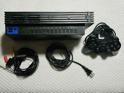 Sony PlayStation 2 PS2 Fat Console SCPH-30001R Cords And Controller