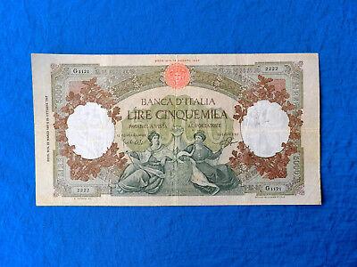 1961 Italy 5000 Lire Banknote *P-85d.1*         *F-VF*