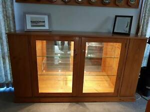 Timber display cabinet