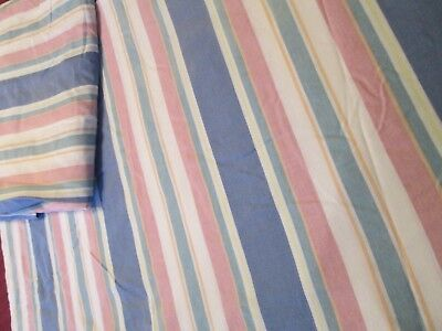 BRITANNICA HOME FASHIONS QUEEN SIZE SHEETS SET 4 PCS PINK BLUE WHITE STRIPES