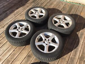 4 Mags with Michelin winter tires 215/55R16
