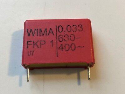 New 1pc Wima Polypropylene Pulse Capacitor Fkp1 0.033uf 630v Dc 400 Vac 5 Audio