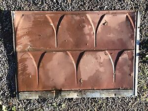 Antique roofing metal sheeting