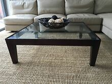 Timber and Glass Coffee Table Botany Botany Bay Area Preview