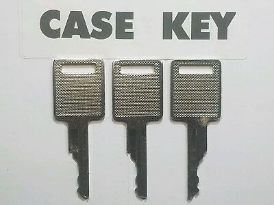 3 Case Bobcat Skidsteer Keys Fits Case Backhoe Heavy Equipment Ignition Key