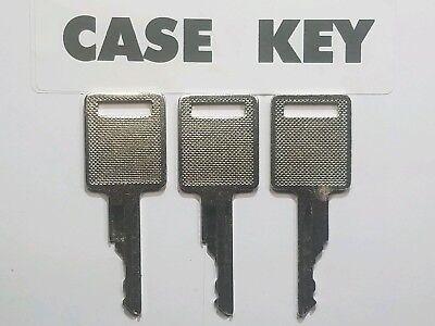 3 Case Bobcat Skidsteer Keys Fits Case Backhoe Heavy Equipment Ignition Key