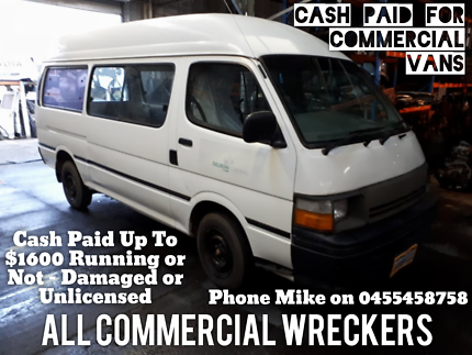 Wanted To Buy Commercial Vans - Cash Paid up to $1600