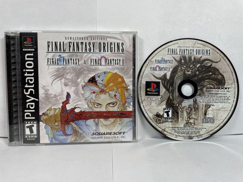 Final Fantasy Origins (PlayStation 1, 2002) CIB TESTED!