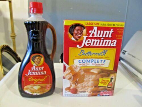 A.J. Syrup & Buttermilk Complete Mix Box & Bottle Combo Original Flavor Retired