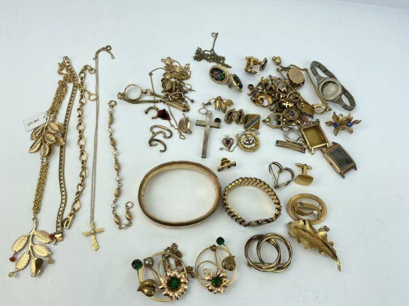 Gold Filled Scrap Lot 300 Grams 12k GF 1/10, 1/20, 14k GF Watch Cases & Jewelry