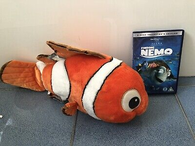 Finding Nemo Large Soft Toy Disney Store And Film DVD VGC ge