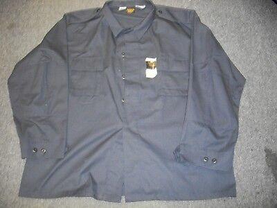 DARK NAVY BLUE  MENS 2 POCKETS UNIFORM WORK BDU SHIRT BDU 2 POCKET SIZE 3X (2 Pocket Bdu Shirt)