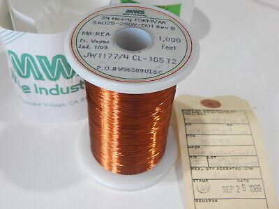 Mws 3a025-280v-001 Jw11774cl-105t2 34 Awg Heavy Formvar Magnet Wire 1000 Feet