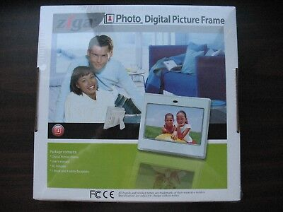 - ZIGA PHOTO DIGITAL PICTURE FRAME 7 INCH with BLACK & WHITE FACEPLATES NEW IN BOX