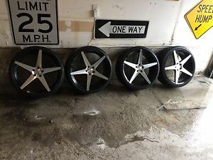 22 inch rims / wheels with tires / rubber