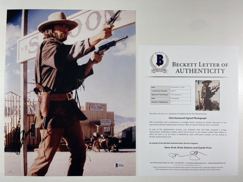 CLINT EASTWOOD SIGNED THE OUTLAW JOSEY WALES 11x14 PHOTO BAS LOA #A67011