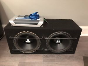 """2- 12"""" JL Subwoofers with Infinity Amp"""