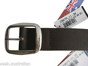 BNWT RM Williams Mens Ladies CB679 Leather Solid Hide Work Belt 1.5