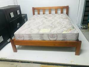 Queen bed FRAME $250 (Delivery) # 4803 Free mattress included