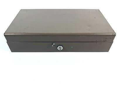 Vintage Metal Cash Box 11 14x 6 Compact No Key