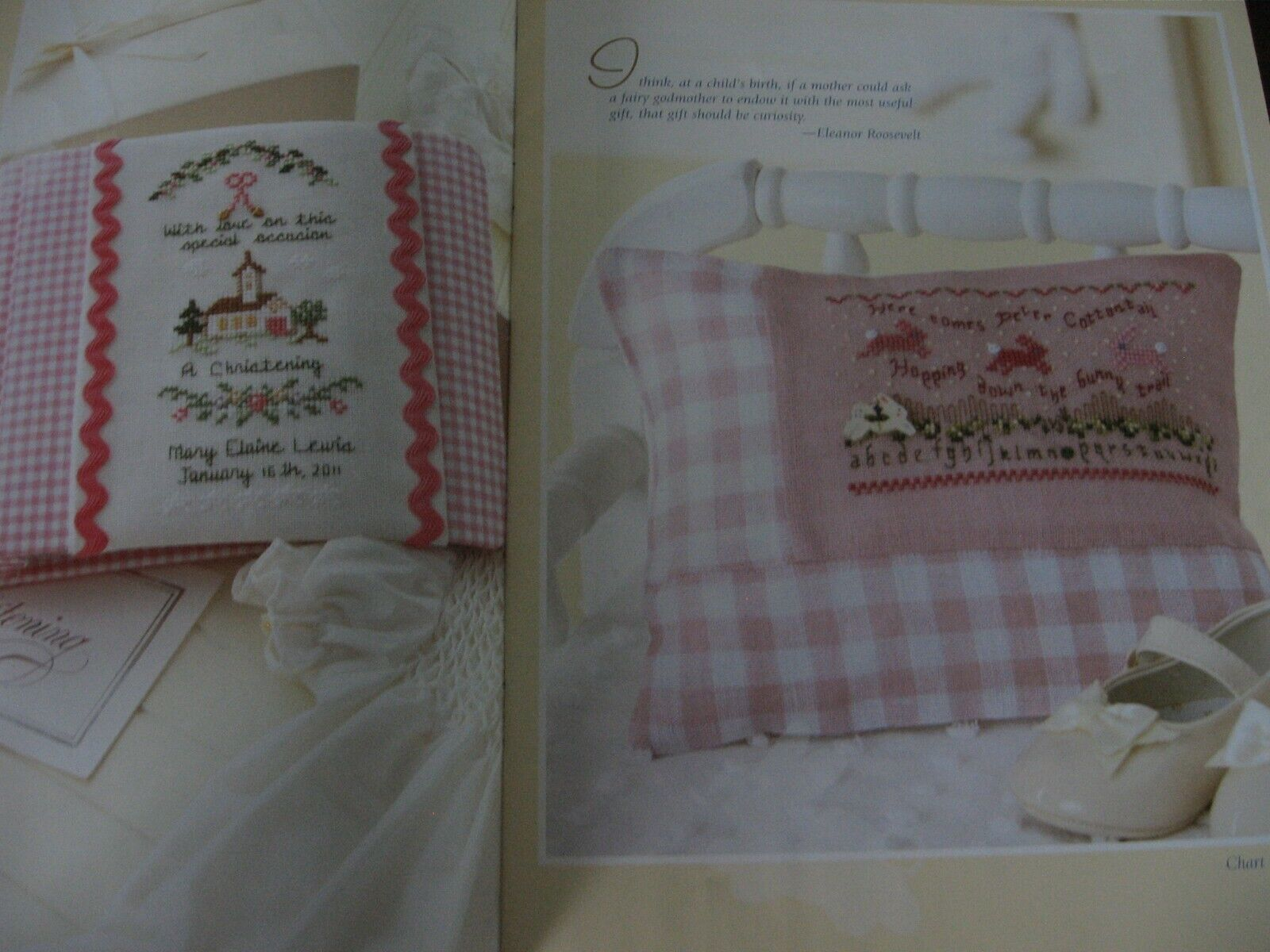 Sweet Nothings For Baby By Leisure Arts - 7 Cross Stitch Designs By Judy Whitman - $2.85